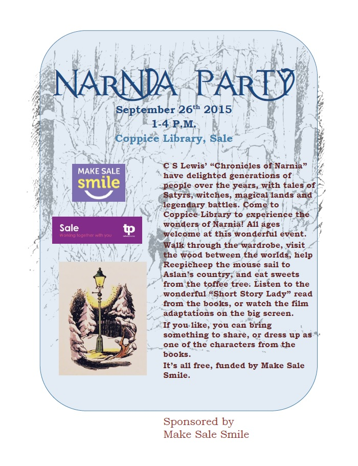 Narnia party, 26/09/2015 1-4pm. Coppice Library